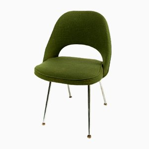 Mid-Century Green Executive Side Chair by Eero Saarinen for Knoll & Wohnbedarf, 1968
