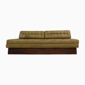 Vintage Leather Sofa Bed