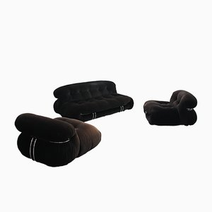 Vintage Soriana Living Room Set by Afra & Tobia Scarpa for Cassina