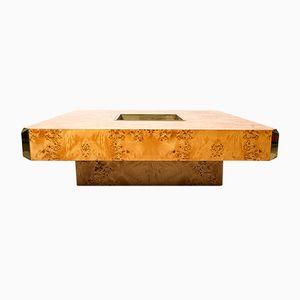 Table Basse Vintage Alveo par Willy Rizzo pour Mario Sabot