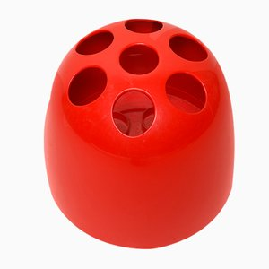 Vintage Red Dedalo Umbrella Stand by Emma Gismondi Schweinberger for Artemide