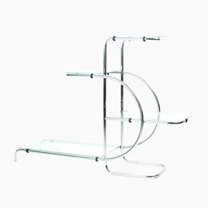 Vintage Glass Plant Shelf by Emile Guyot, 1930s