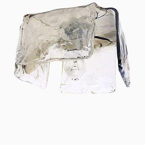 Aplique de pared de cristal de Murano de J.T. Kalmar, años 60
