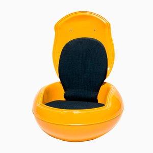 Egg chair da giardino vintage gialla di Peter Ghyczy per Reuter