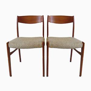 Chaises de Salon Vintage en Teck de Glyngore Stolefabrik, Danemark, 1960s, Set de 2