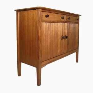 Vintage Solid Walnut & Mahogany Small Sideboard by David Booth for Gordon Russell