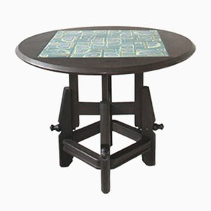 Verstellbarer Eiche Tisch von Guillerme et Chambron für Votra Maison, 1960er