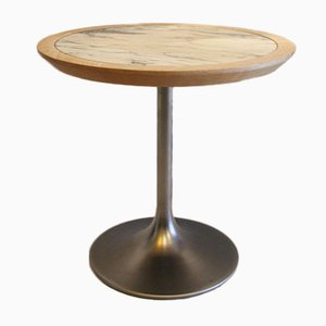 Marmor, Eiche und Aluminium Tisch von Borje Johanson, 1970er