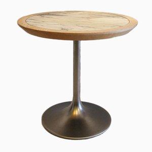 Table en Marbre, Chêne et Aluminium par Borje Johanson, 1970s