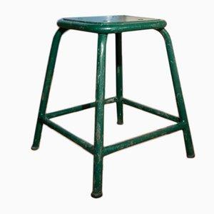 Grüner Vintage Werkstatt Hocker