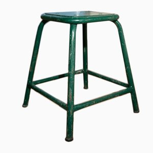 Vintage Green Factory Stool