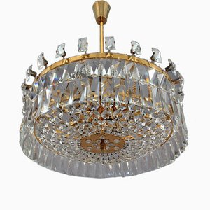 Austrian Crystal Glass Chandelier by Oswald Haerdtl for Lobmeyer, 1972