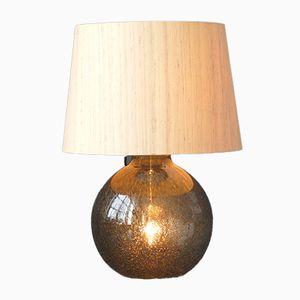 Lampada da tavolo con corpo illuminato e paralume in seta di Putzler, anni '70