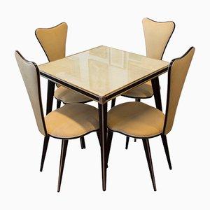 Ensemble Lounge Table à Café et Chaises Vintage par Umberto Mascagni, Italie, 1960s