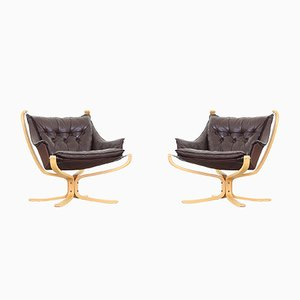 Mid-Century Falcon Chairs by Sigurd Ressell for Vatne Møble, 1970s, Set of 2