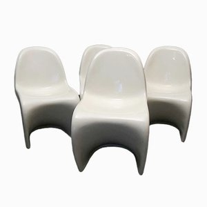 Mid-Century White Cantilever Chairs by Verner Panton, 1978