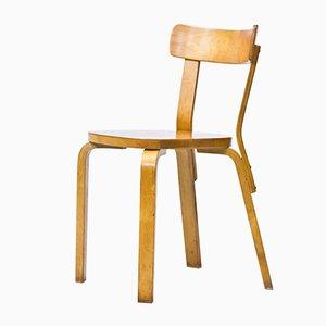 Chaise Modèle 69 Chair par Alvar Aalto pour Artek, 1940s