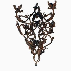 Handgemachter Schmiedeeisen Kronleuchter, 1800er