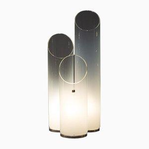 Lámpara de mesa Mid-Century con tres cilindros, años 60