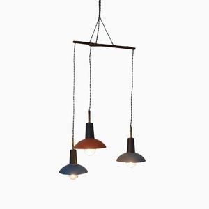 Vintage Multi-Colored Hanging Lamp