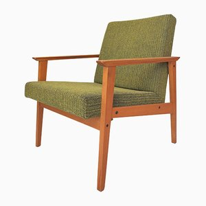 Mid-Century Tropical Green Armchair, 1960s