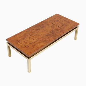 Table Basse en Bois de Broussin, 1970s