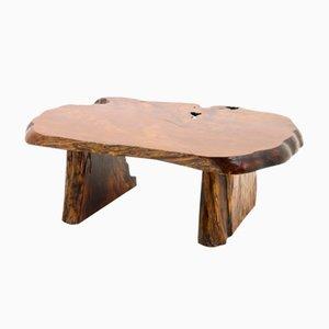 Mesa de centro de madera de raíz maciza, años 60
