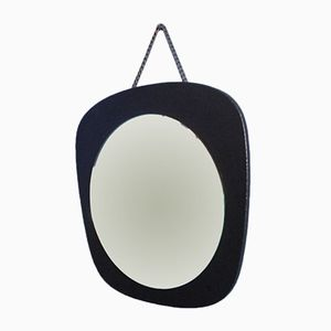 Kidney Shaped Wall Mirror, 1950s