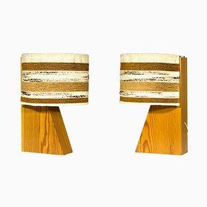 Lámparas de mesa españolas vintage arquitectónicas de Joaquim Blesa, años 70. Juego de 2