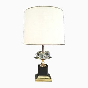 Lámpara de mesa vintage con frutas de cristal de Maison Charles