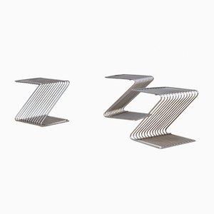Z Metall Beistelltische von Atelier A Paris, 3er Set