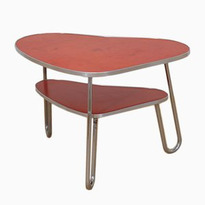Vintage Red Kidney Coffee Table