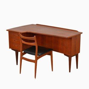 Mid-Century Boomerang Schreibtisch mit Stuhl von Peter Løvig Nielsen