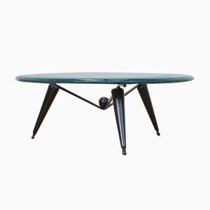 Table Basse Vintage en Marbre et Verre