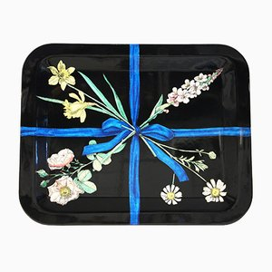 Nastro con Fiori Serving Tray by Piero Fornasetti