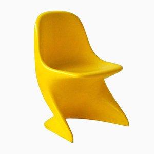 Gelber Casalino 0 Stuhl von Alexander Begge für Casala, 1972