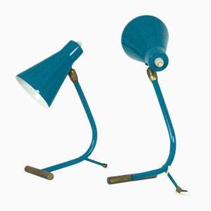 Italienische Mid-Century Tischlampen, 1950er, 2er Set