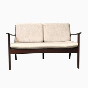 Vintage Zwei-Sitzer Sofa von Ole Wanscher für P. Jeppesens Møbelfabrik