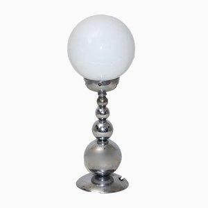 Lampe de Bureau avec Diffuseur Sphérique Blanc, France,1950s
