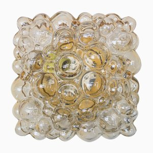 Plafón rectangular de cristal burbuja de Helena Tynell para Limburg, años 60