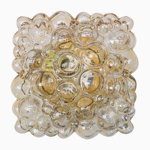 Rechteckige Bubble Glas Deckenleuchte von Helena Tynell für Limburg, 1960er