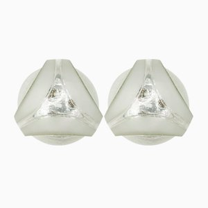 Lámparas de pared geométricas de Hoffmann Leuchten, años 60. Juego de 2