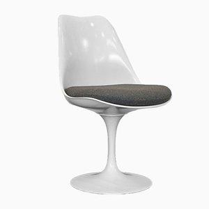 Weißer Vintage Tulip Stuhl von Eero Saarinen für Knoll