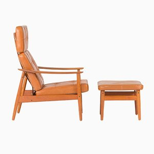 Lounge Chair with Ottoman by Arne Vodder for France & Søn, 1960s