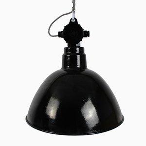 Lampe Industrielle Usine Bunker Emaillée de VEB Leuchtenbau
