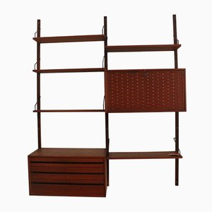 Modular Teak Wall Shelf by Poul Cadovius for Cado