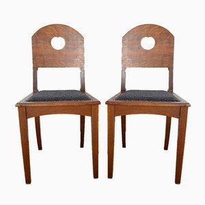 Eichenholz Stühle von Richard Riemerschmid für Deutsche Werkstätten Hellerau, 1900er, 2er Set