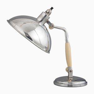 Lámpara de mesa francesa vintage, años 40