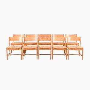 Mid-Century Esszimmerstühle von Borge Mogensen für C.M. Madsens Fabrikker, 10er Set