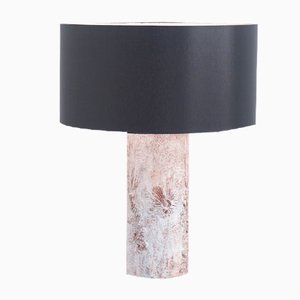 Brutalist White Ceramic Table Lamp by Willy Meysmans